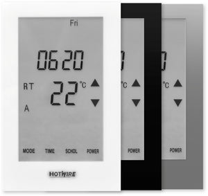 Thermostat Colour Options for the Hotwire Floor Heating Range