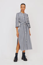 Load image into Gallery viewer, Alice Early Raminta Shirt Dress blue white check at Lofte