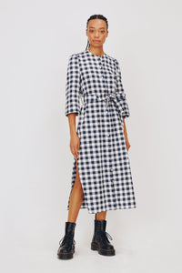 Alice Early Raminta Shirt Dress blue white check at Lofte