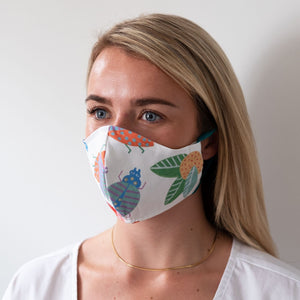 Beetle Garden Reversible Face Mask