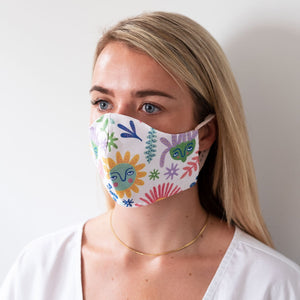 Lazy Daisy Reversible Face Mask
