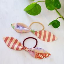 Load image into Gallery viewer, Organic Cotton Hair Bow Band 'Pretty Pots'