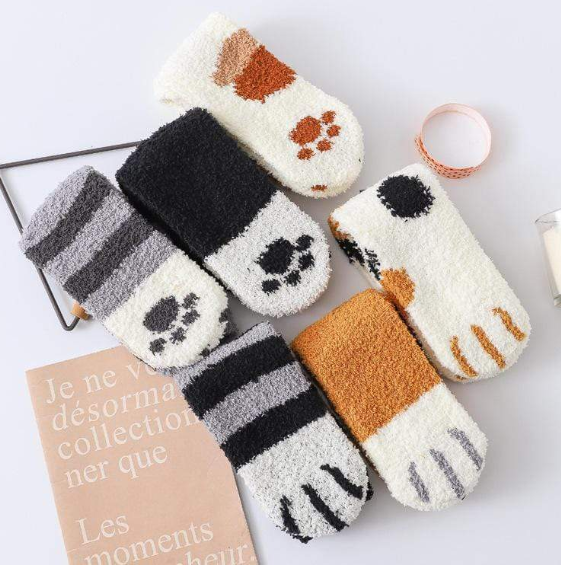 Winter Cat Claws Cute Thick Warm Sleep Floor Socks