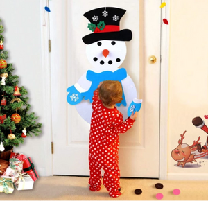 DIY felt christmas tree/snowman(Best Gift For Children.)