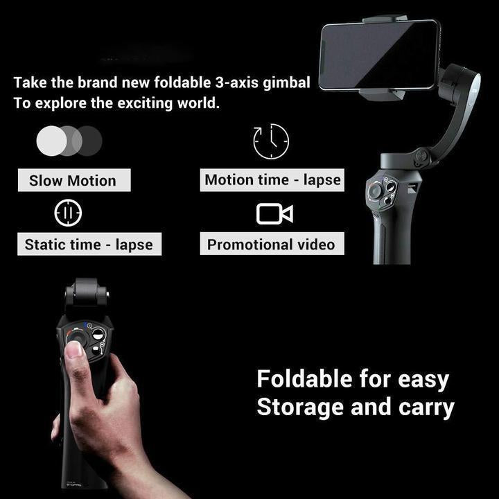 The best smartphone gimbal in 2019-Super portable, wireless charging, 310g payload, mic jack, one-key switch, zoom and focus control