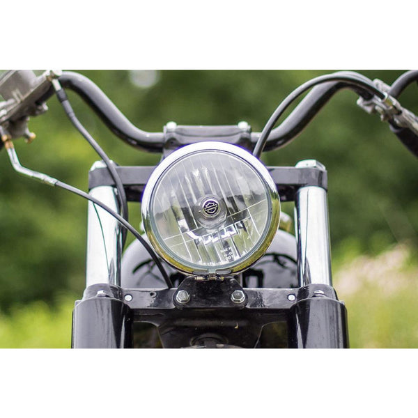 Headlight mount for Wide Glide 1948-1985 Harley Davidson FLH - Tumbled stainless steel