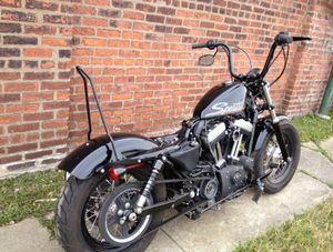 Sissy Bar - The Chopper Bolt On for 2004 and up Sportsters