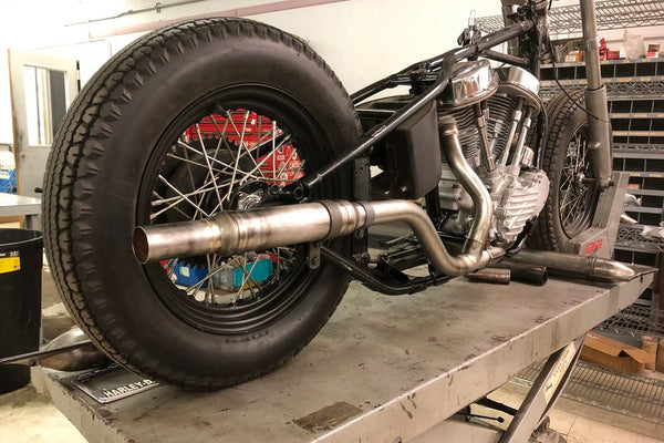 Panhead upsweep exhaust set, 4 piece