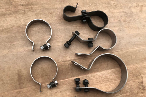 1950 Panhead complete clamp set