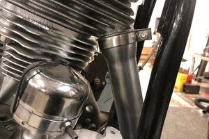 1948-65 Panhead Front Exhaust Pipe