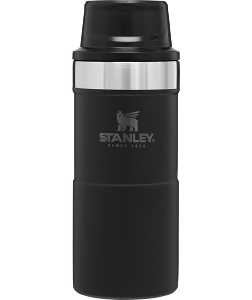 Stanley - 12oz Classic Trigger Action Travel Mug, Matte Black