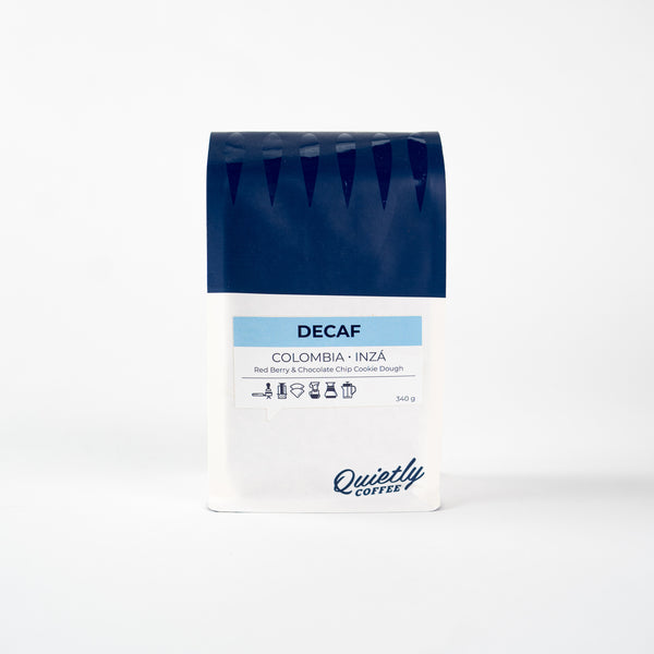 Quietly Coffee - Decaf, Colombia, 340g (12oz)