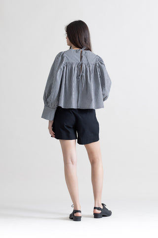 BABY-DOLL OVERSIZE CUFF TOP