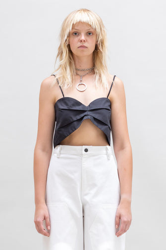 BANDEAU CROP TIE BACK TOP