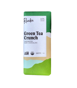 Green Tea Crunch Raaka Chocolate
