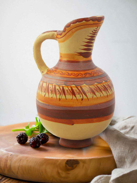 TERRACOTTA PITCHER WHIT HANDLE