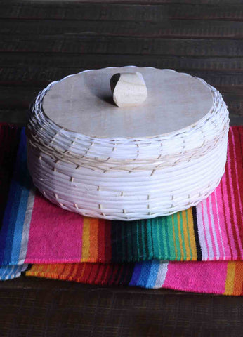 NATURAL HAND WOVEN WICKER TORTILLA BASKET