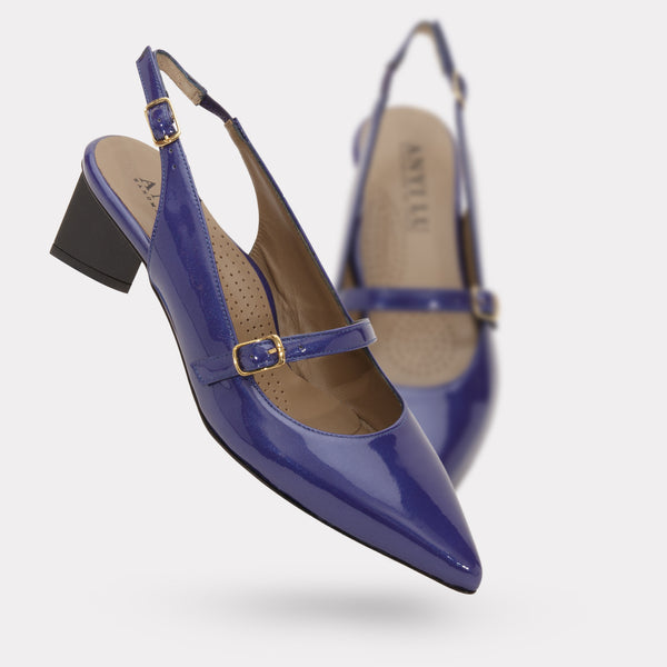 The Gigi - Dark Blue Patent