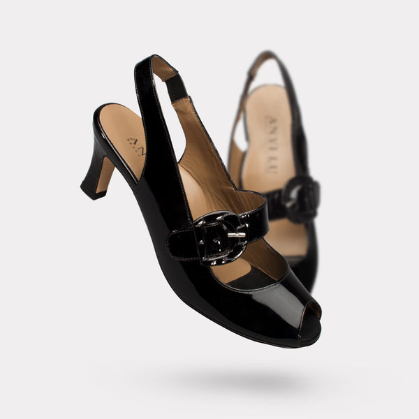 The Tulip - Black Patent