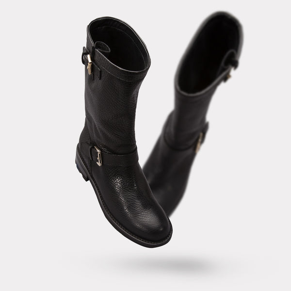 The Callie - Black Tumbled Calf
