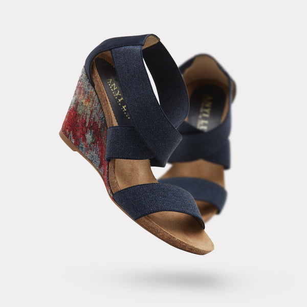 The Cristina - Navy Denim Stretch / Denim Multi