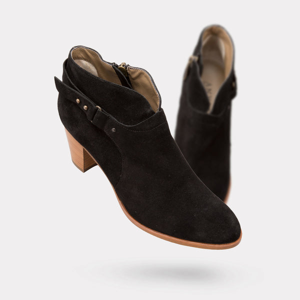 The Cynthia - Black Suede