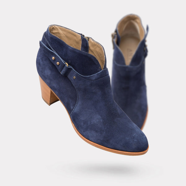The Cynthia - Navy Suede