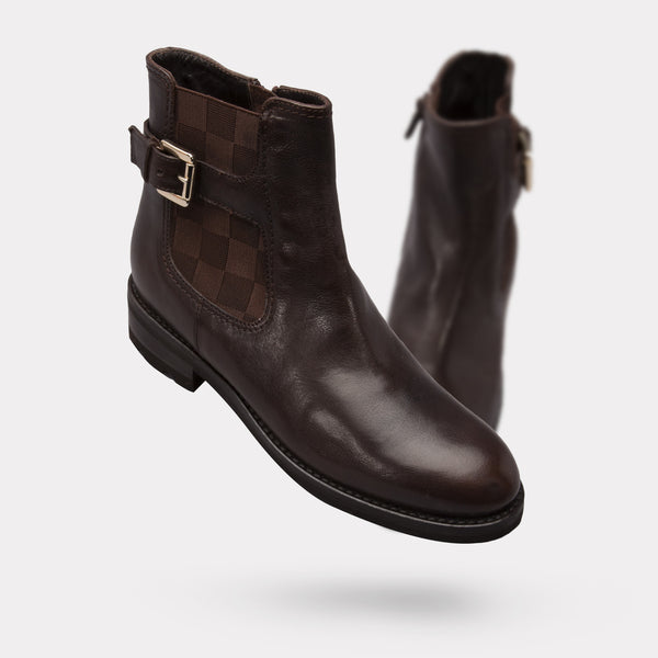 The Resse - Espresso Calf / Checker Elastic