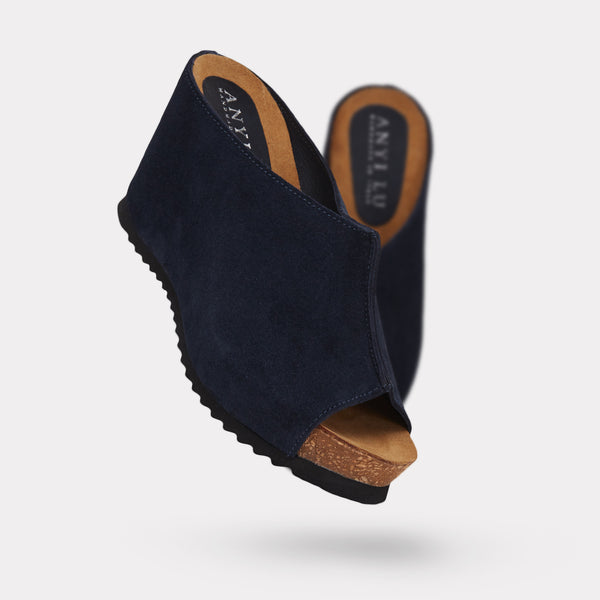 The Sara - Navy Suede