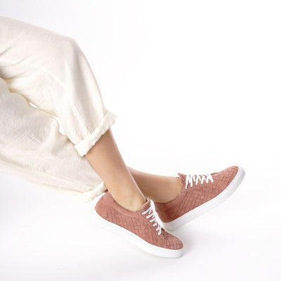 Le Dancer Sneaker in Dusty Rose Woven