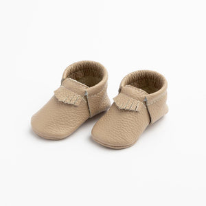 First Pair Soft Sole City Moccasins in Toast
