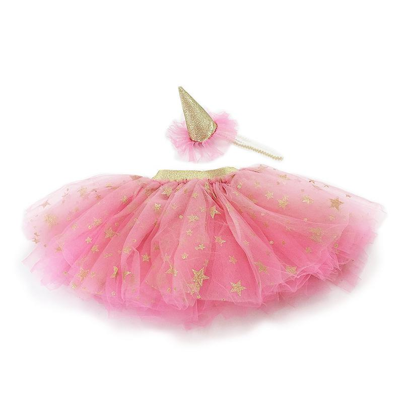 Tutu Skirt and Party Hat Dress Up Set