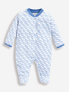Little Elephant Sleepsuit Blue