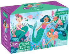 Load image into Gallery viewer, Mermaid Glitter Puzzle 100 Pieces