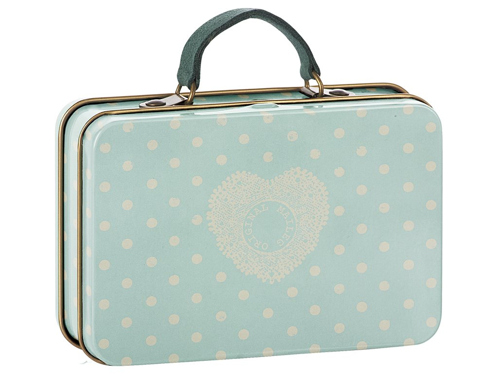 Metal Suitcase with dots