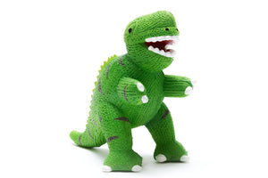 Natural Rubber T-Rex Dinosaur Bath Toy and Teether