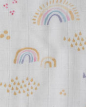 Load image into Gallery viewer, Deluxe Muslin Quilt Rainbows & Raindrops