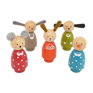 Le Grande Famille - Set of Wooden Characters (5 Pcs)