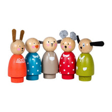 Load image into Gallery viewer, Le Grande Famille - Set of Wooden Characters (5 Pcs)