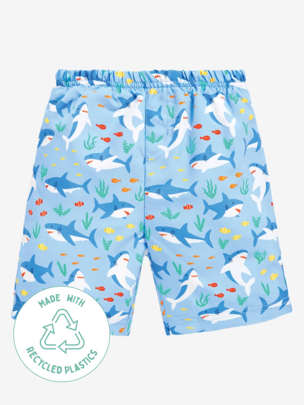 Swim Shorts With Nappy Shark