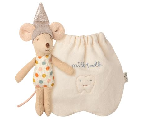 Little Tooth Fairy Mouse in Pouch