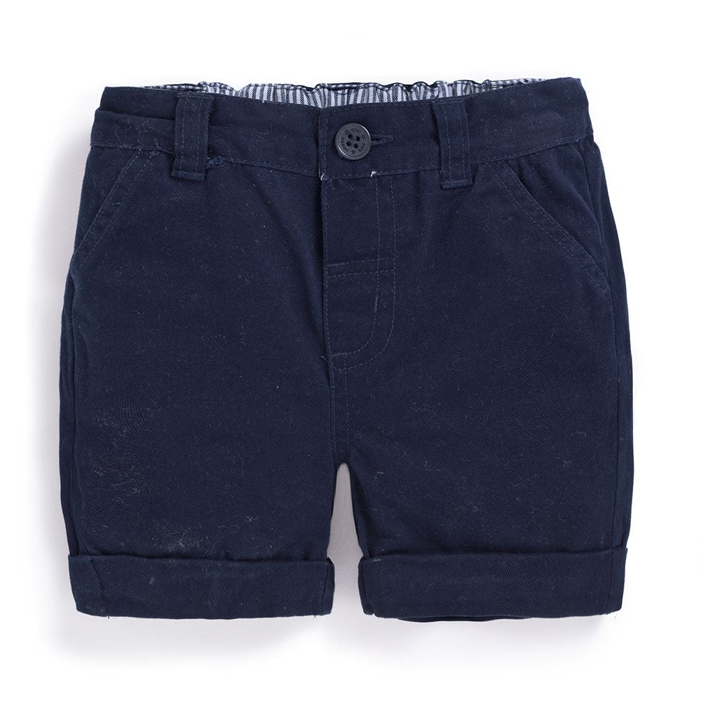 Twill Chino Shorts in Navy