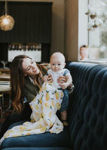 Load image into Gallery viewer, Cotton Muslin Swaddle Lemon