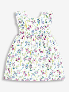 Pretty Floral Summer Dress White
