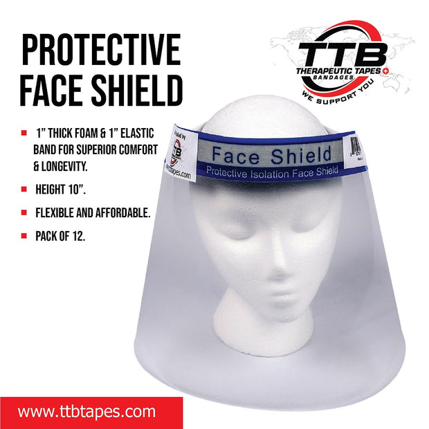 Protective Face Shield  12PCS