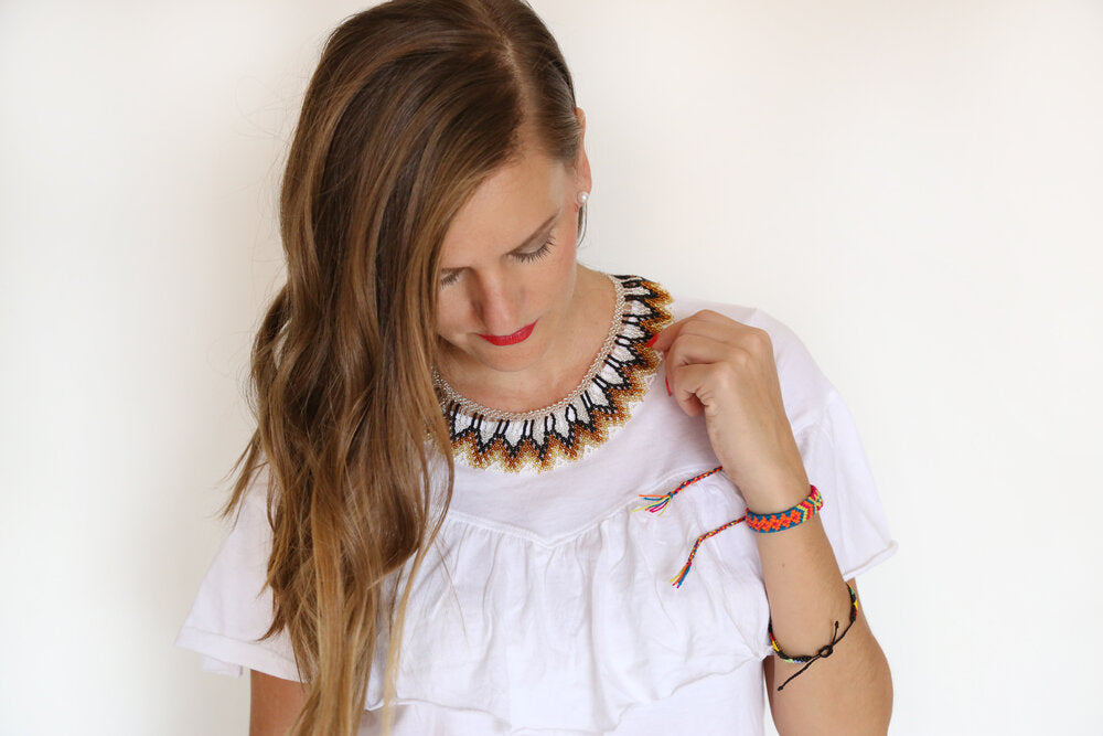 Embera Necklace Choker Cafe