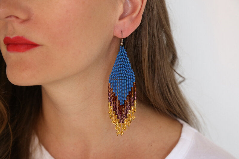 Embera Earrings Peacock