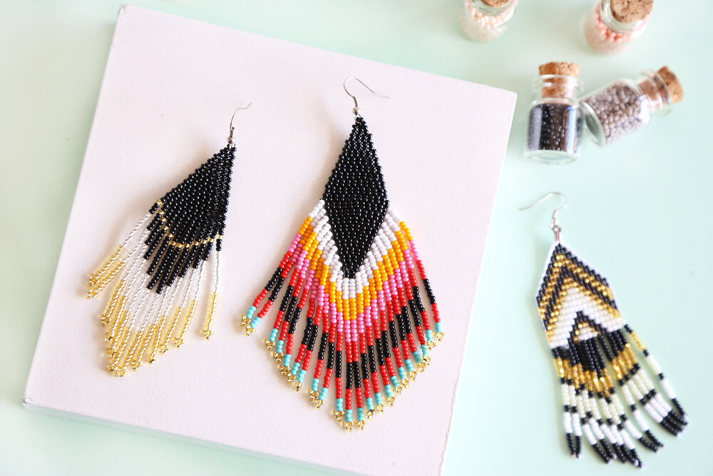 Exito Black Embera Earrings