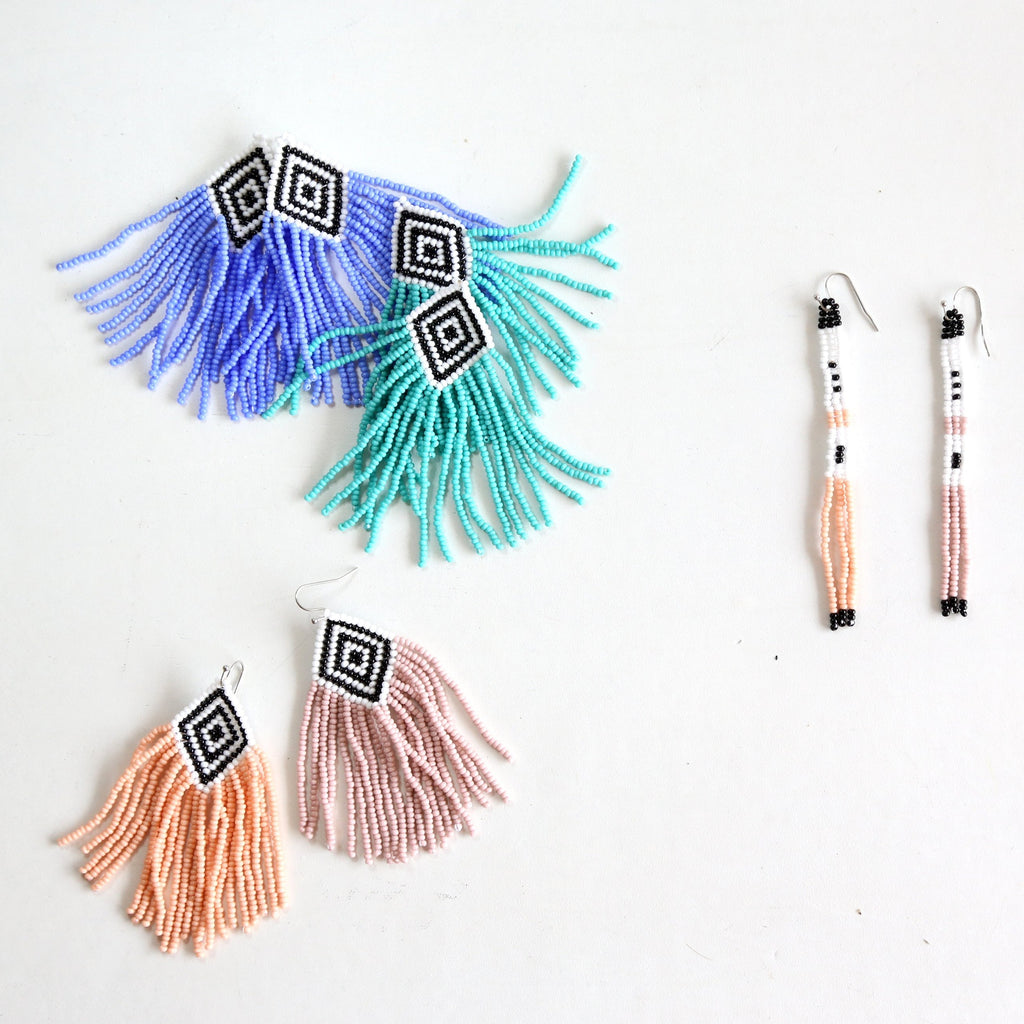 Seafoam Embera Earrings