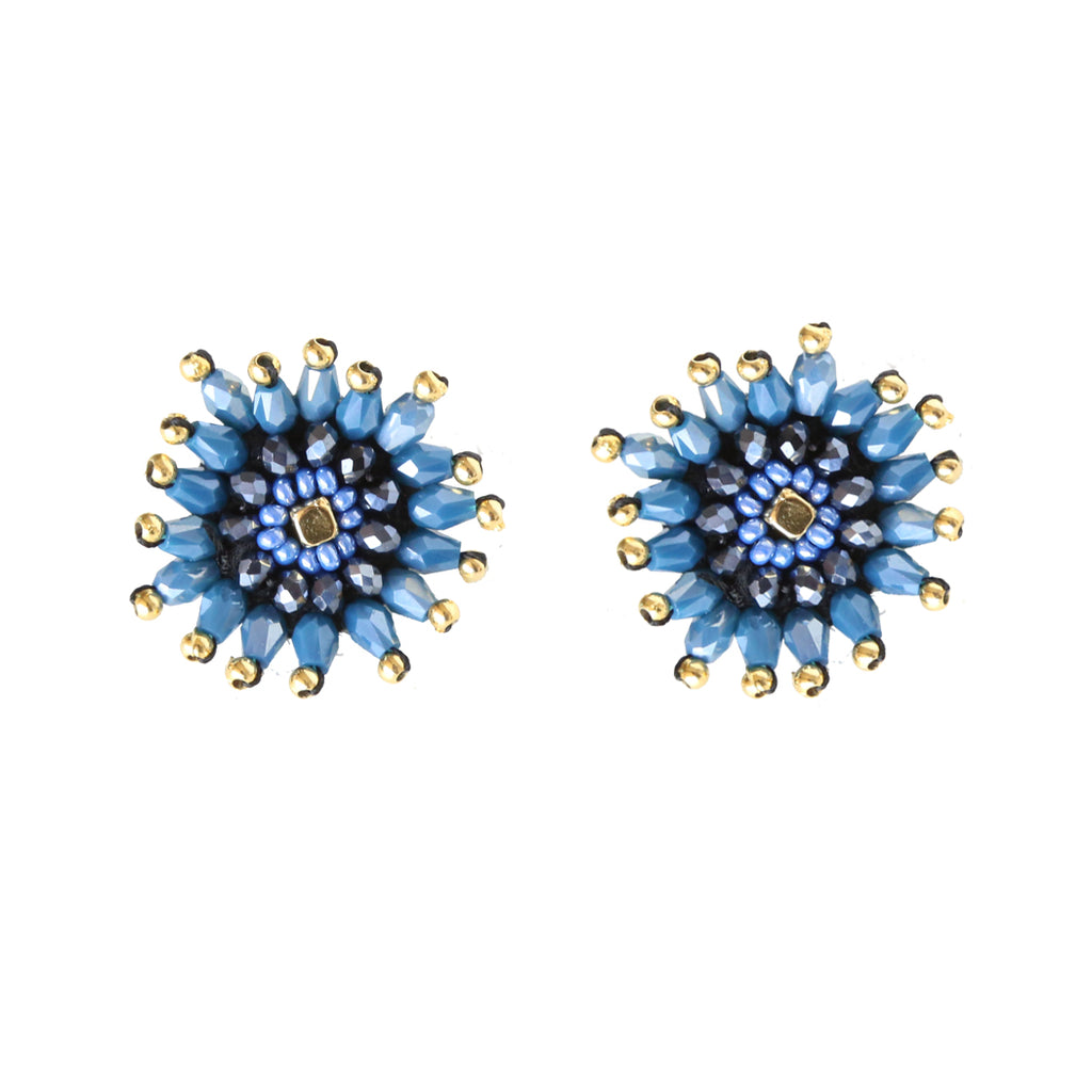 Navy Burst Earring